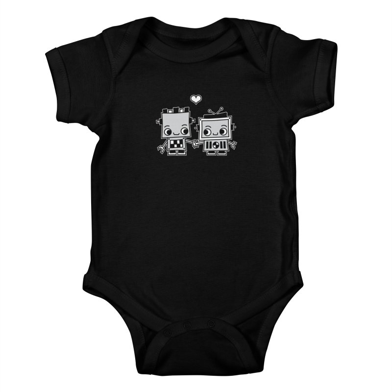 Robot Love Kids Baby Bodysuit by Treemanjake