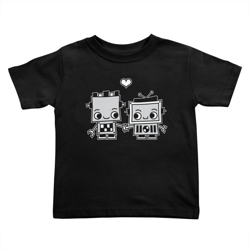 Robot Love Kids Toddler T-Shirt by Treemanjake