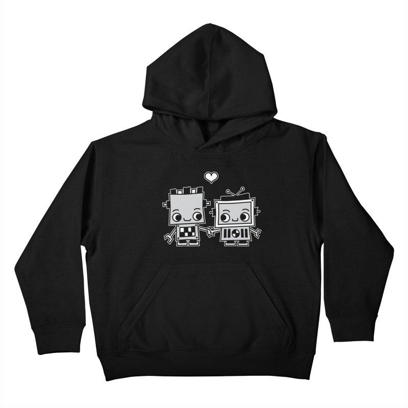 Robot Love Kids Pullover Hoody by Treemanjake