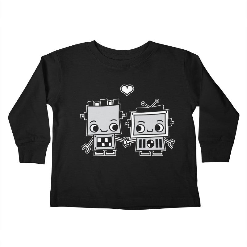 Robot Love Kids Toddler Longsleeve T-Shirt by Treemanjake