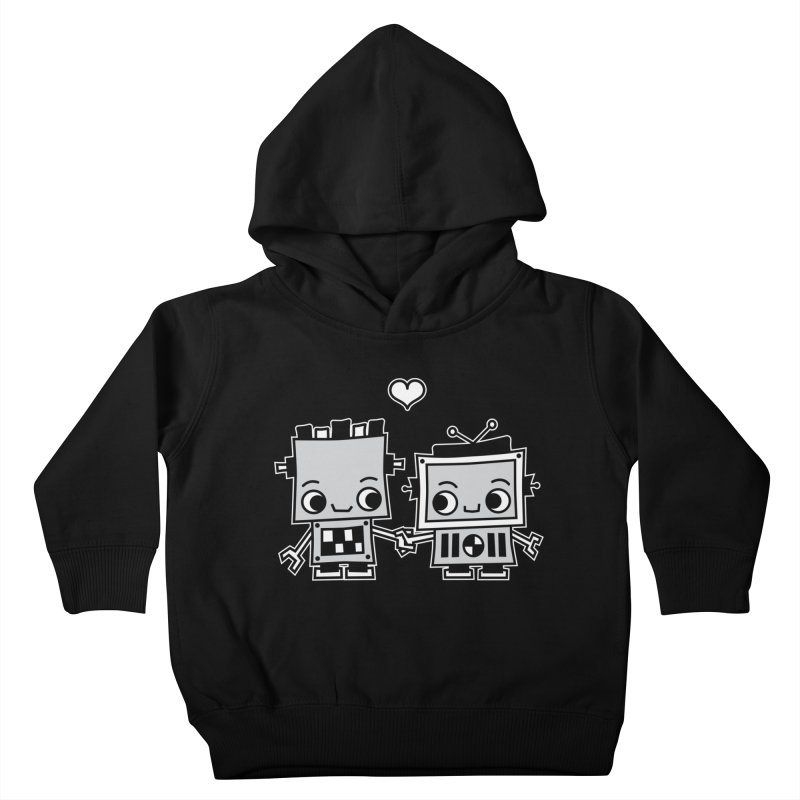 Robot Love Kids Toddler Pullover Hoody by Treemanjake