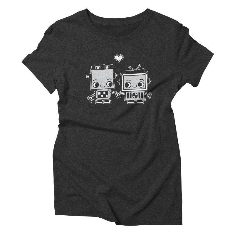 Robot Love Women's Triblend T-Shirt by Treemanjake