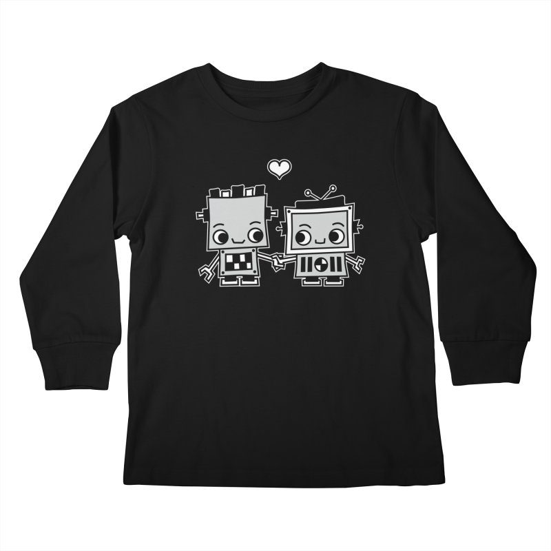 Robot Love Kids Longsleeve T-Shirt by Treemanjake