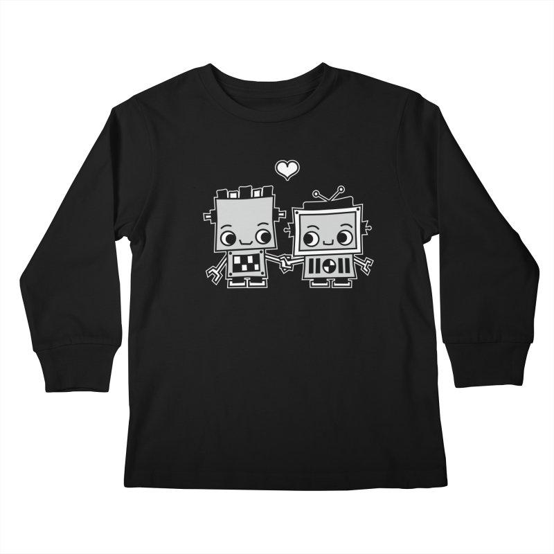 Robot Love Kids Longsleeve T-Shirt by Treemanjake