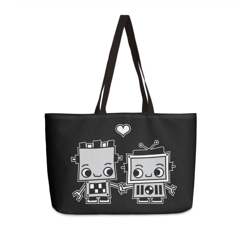 Robot Love Accessories Weekender Bag Bag by Treemanjake