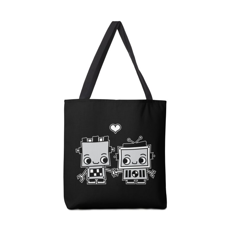 Robot Love Accessories Tote Bag Bag by Treemanjake