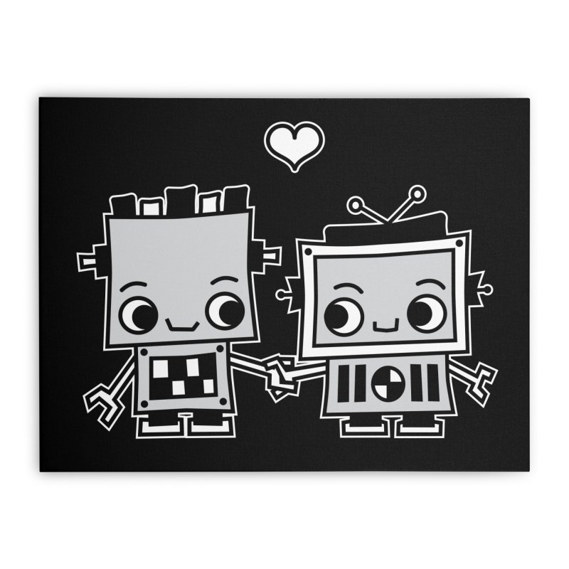 Robot Love Home Stretched Canvas by Treemanjake