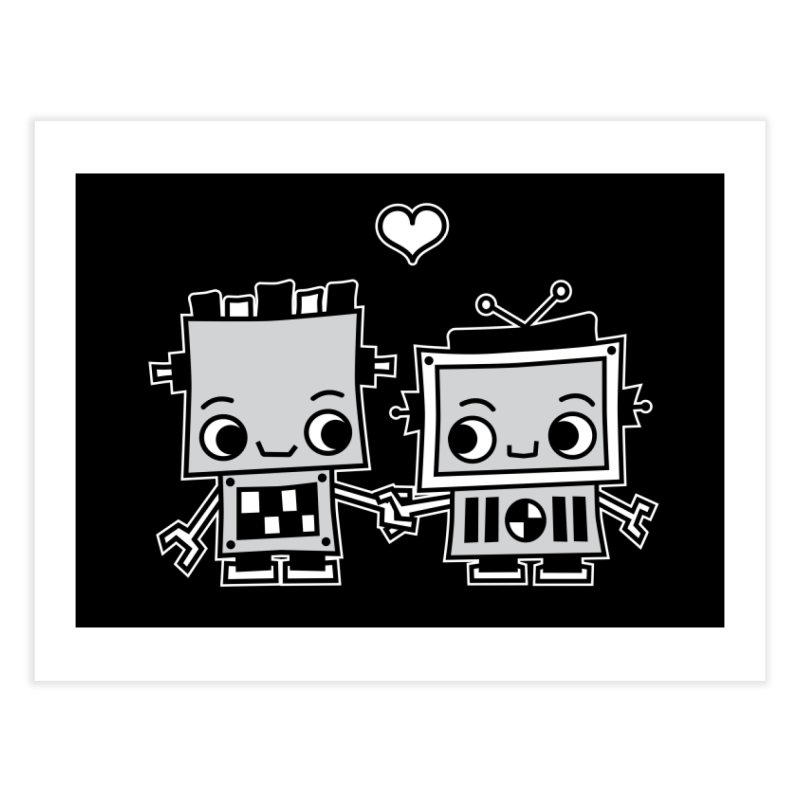 Robot Love Home Fine Art Print by Treemanjake