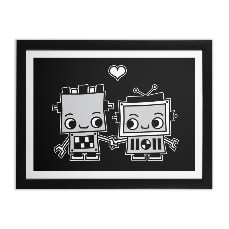 Robot Love Home Framed Fine Art Print by Treemanjake