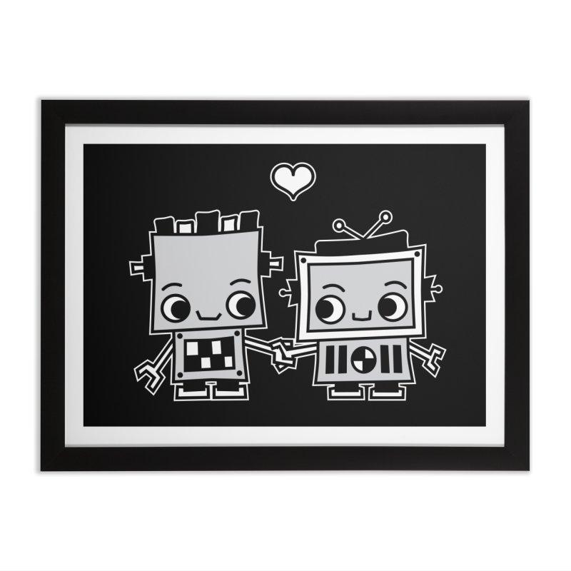Robot Love Home Framed Fine Art Print by Treemanjake
