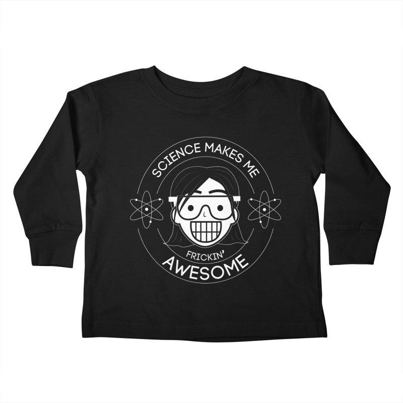 Science Girl Kids Toddler Longsleeve T-Shirt by Treemanjake