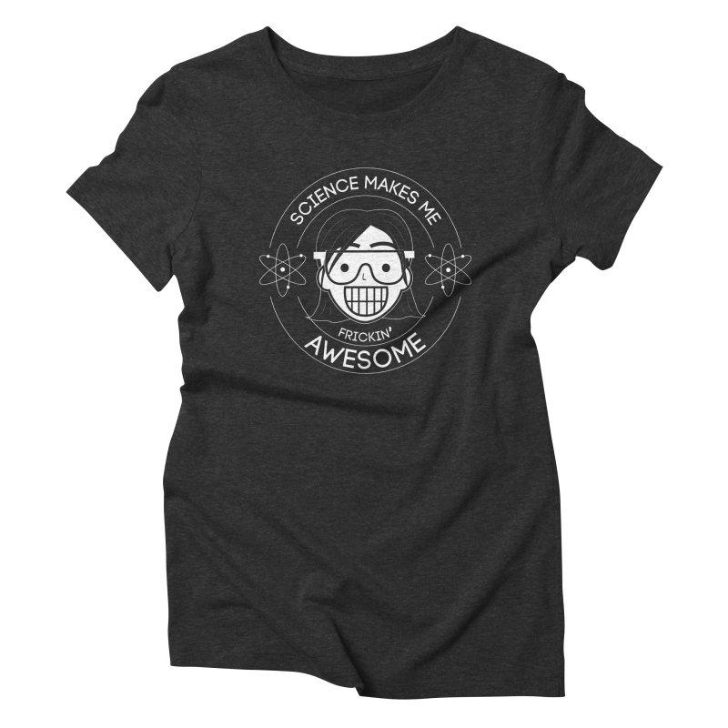 Science Girl Women's Triblend T-Shirt by Treemanjake