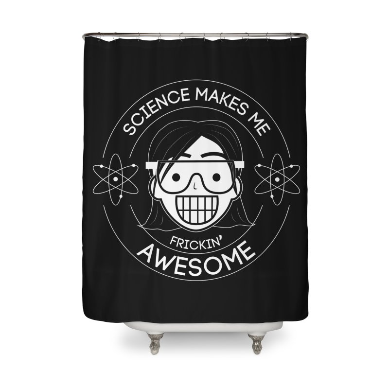 Science Girl Home Shower Curtain by Treemanjake