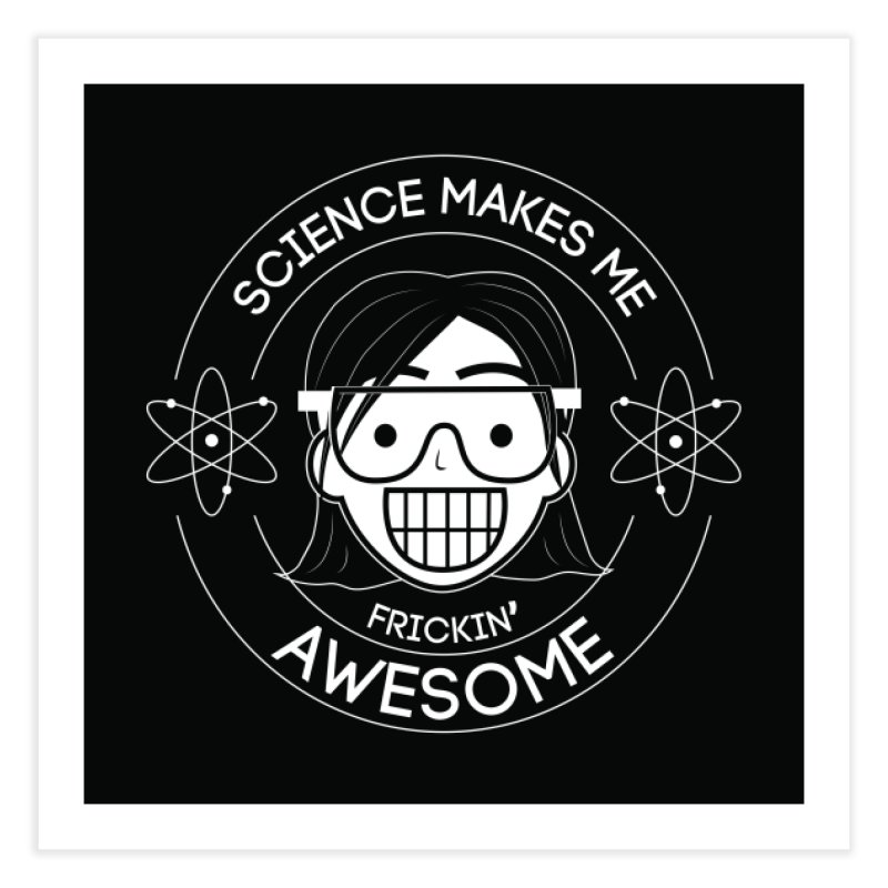 Science Girl Home Fine Art Print by Treemanjake