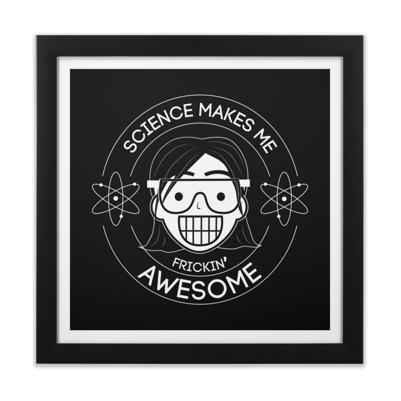 Science Girl Home Framed Fine Art Print by Treemanjake