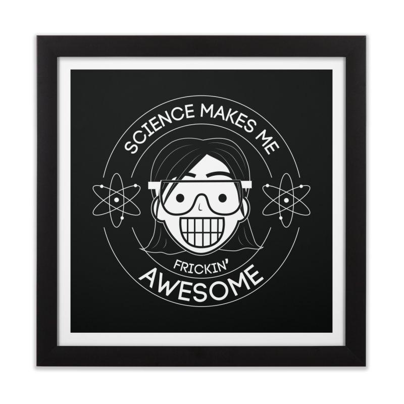 Science Girl Home Framed Fine Art Print by Treemanjake