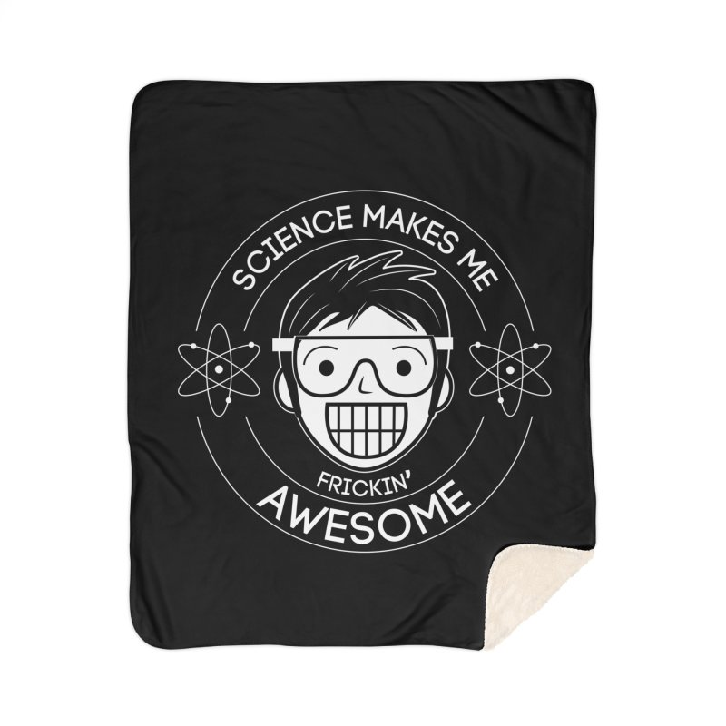 Science Guy Home Sherpa Blanket Blanket by Treemanjake