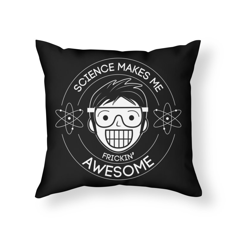Science Guy Home Throw Pillow by Treemanjake
