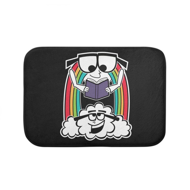 Mr. Rainbow Home Bath Mat by Treemanjake