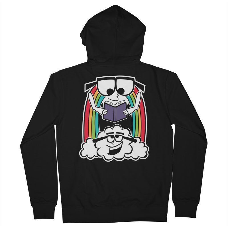 Mr. Rainbow Women's French Terry Zip-Up Hoody by Treemanjake
