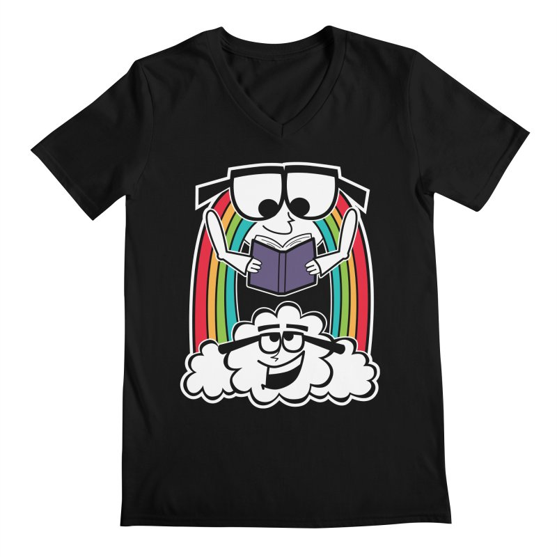 Mr. Rainbow Men's Regular V-Neck by Treemanjake