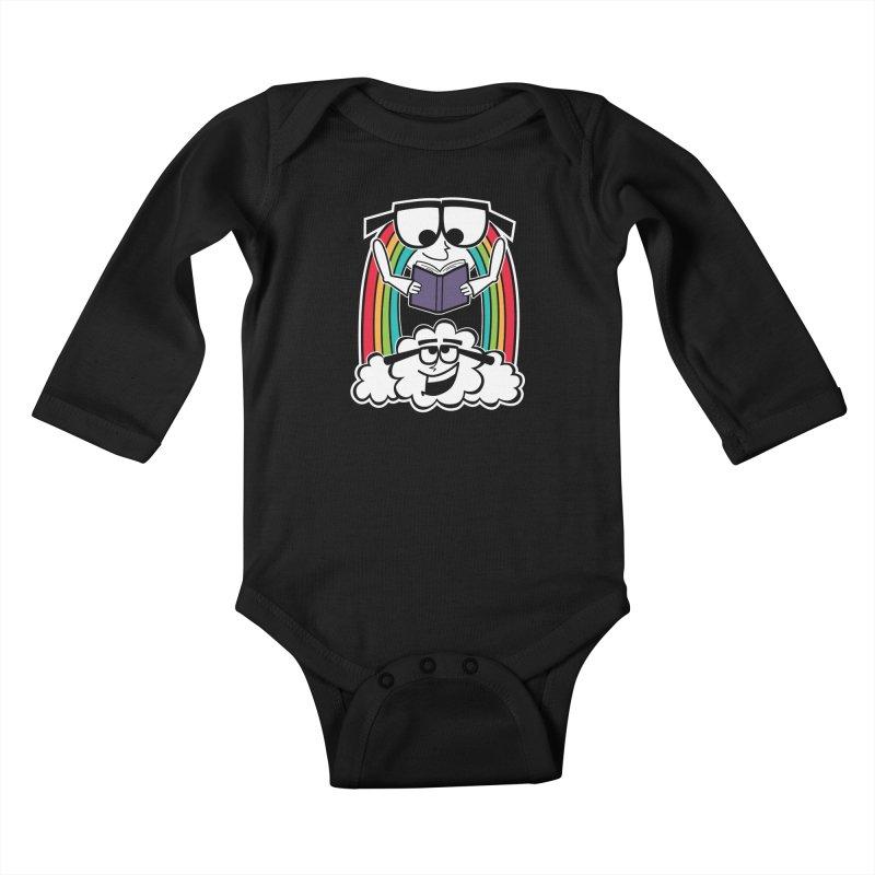 Mr. Rainbow Kids Baby Longsleeve Bodysuit by Treemanjake