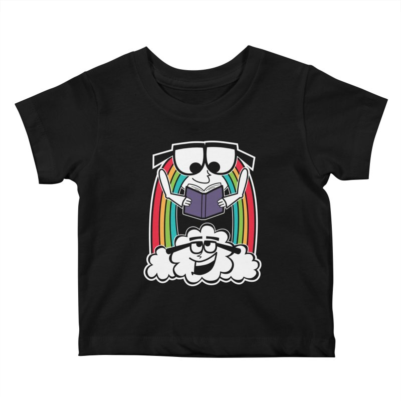 Mr. Rainbow Kids Baby T-Shirt by Treemanjake