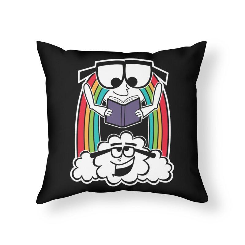Mr. Rainbow Home Throw Pillow by Treemanjake