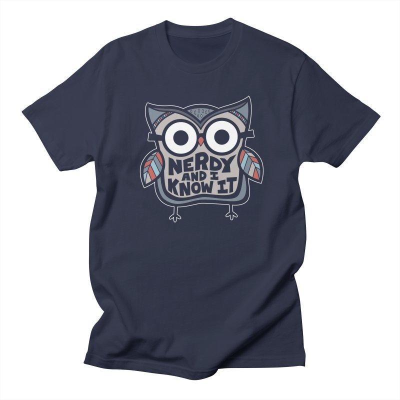 Nerdy Birdy Men's Regular T-Shirt by Treemanjake