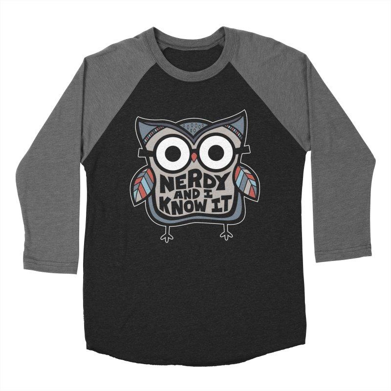 Nerdy Birdy Men's Baseball Triblend Longsleeve T-Shirt by Treemanjake