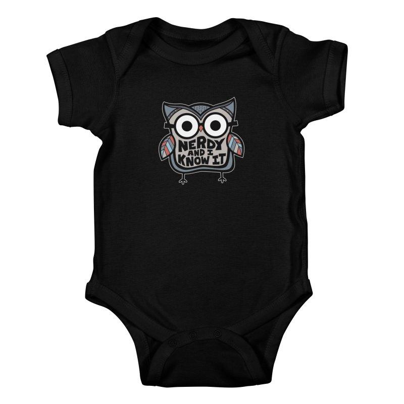 Nerdy Birdy Kids Baby Bodysuit by Treemanjake
