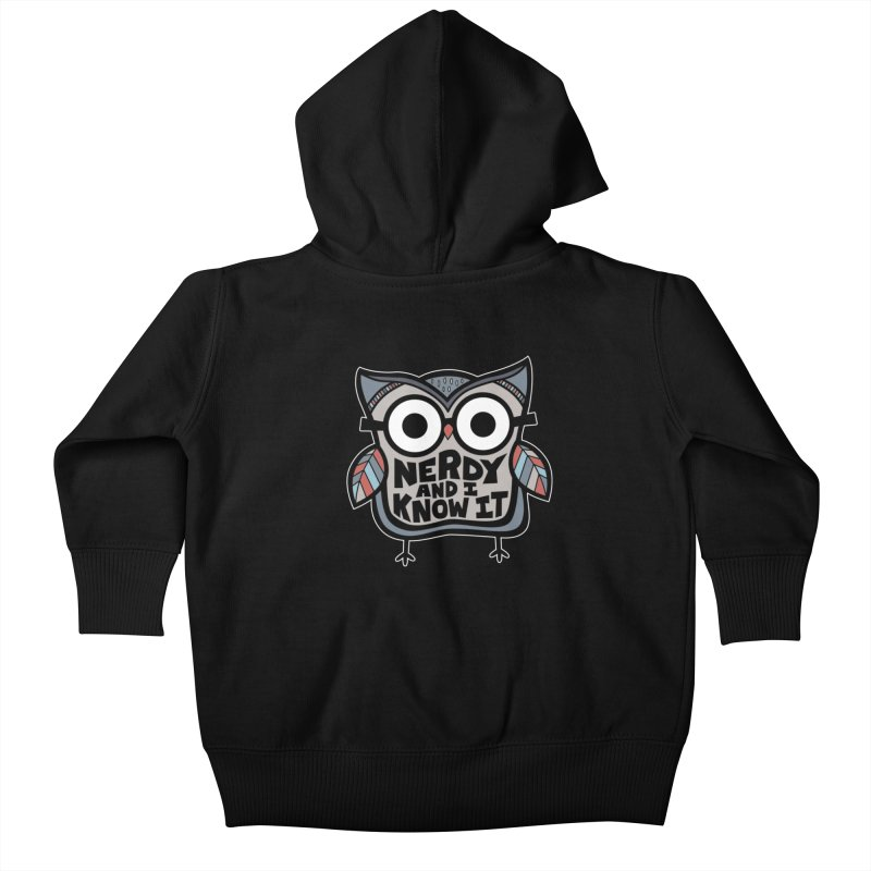 Nerdy Birdy Kids Baby Zip-Up Hoody by Treemanjake