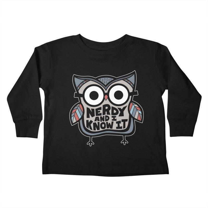 Nerdy Birdy Kids Toddler Longsleeve T-Shirt by Treemanjake