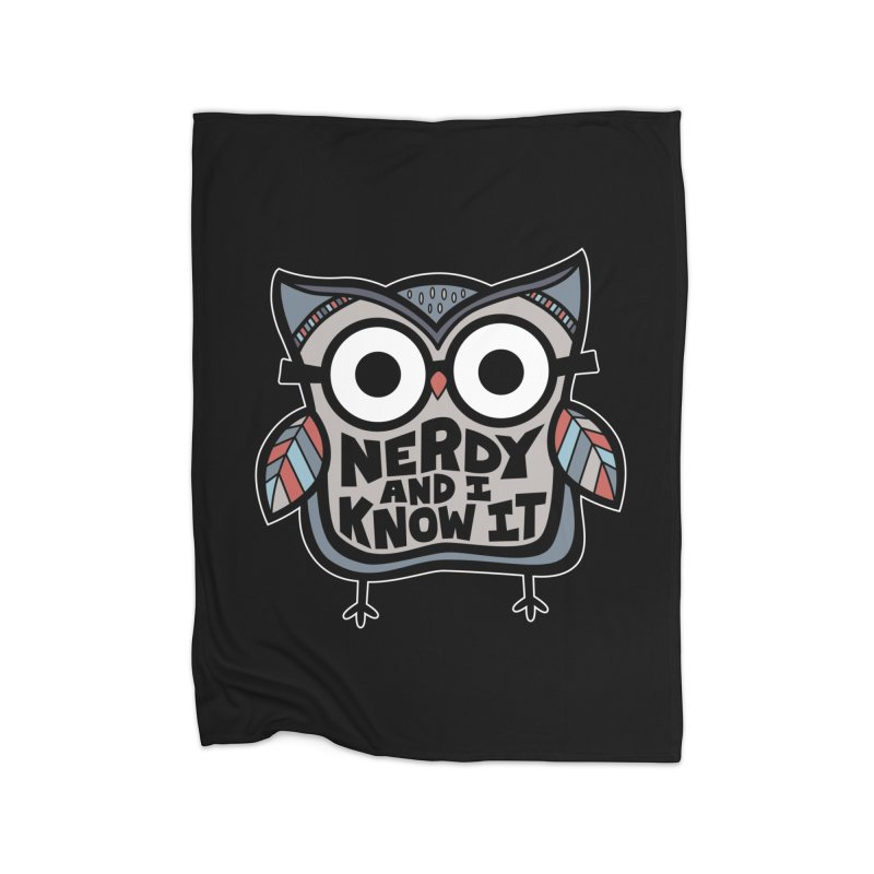 Nerdy Birdy Home Fleece Blanket Blanket by Treemanjake