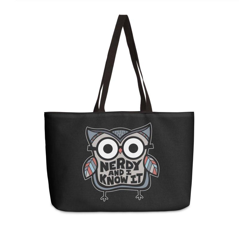 Nerdy Birdy Accessories Weekender Bag Bag by Treemanjake