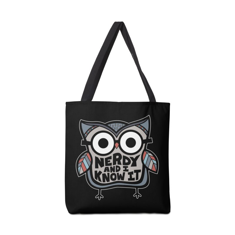 Nerdy Birdy Accessories Tote Bag Bag by Treemanjake