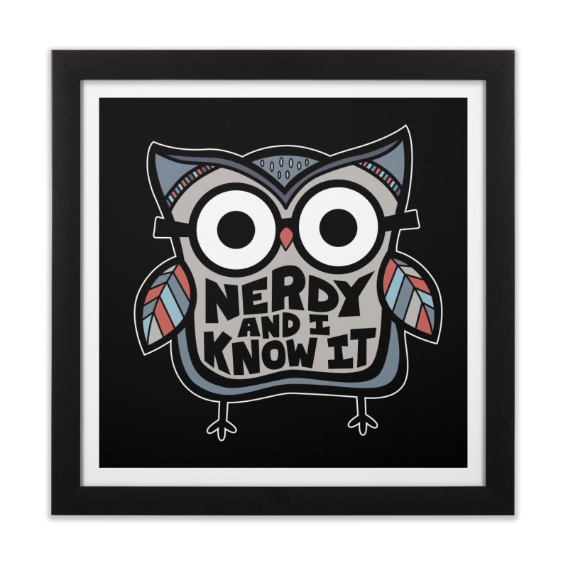 Nerdy Birdy Home Framed Fine Art Print by Treemanjake