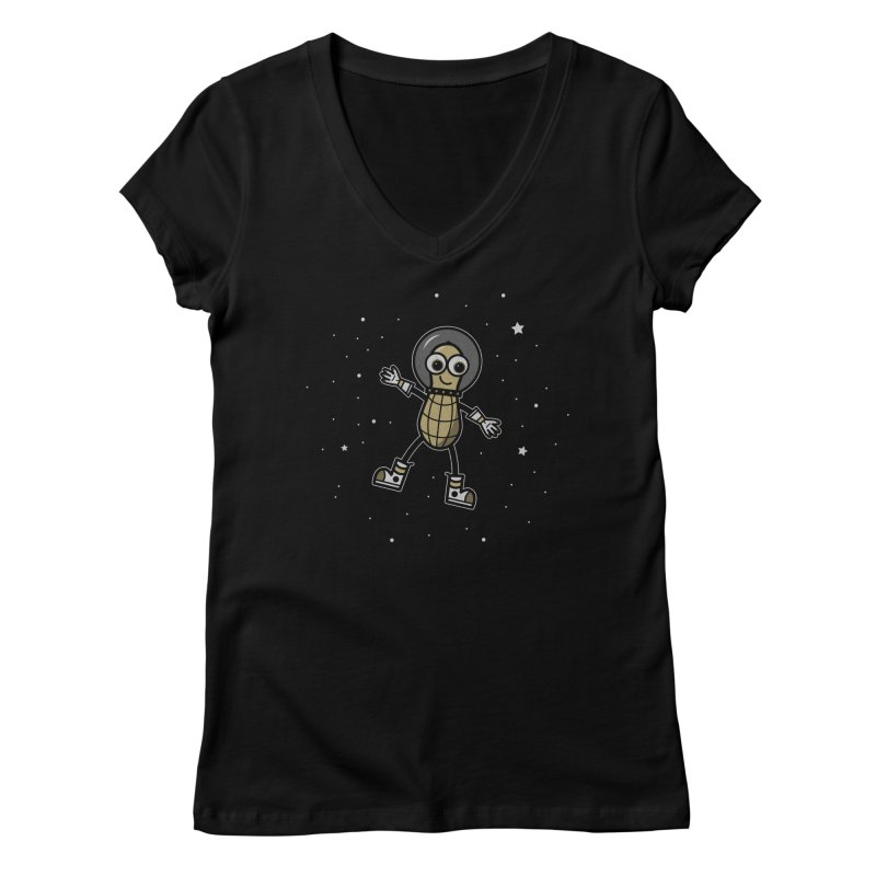 Astronutty Women's Regular V-Neck by Treemanjake