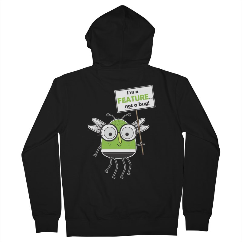 I'm not a bug Men's French Terry Zip-Up Hoody by Treemanjake