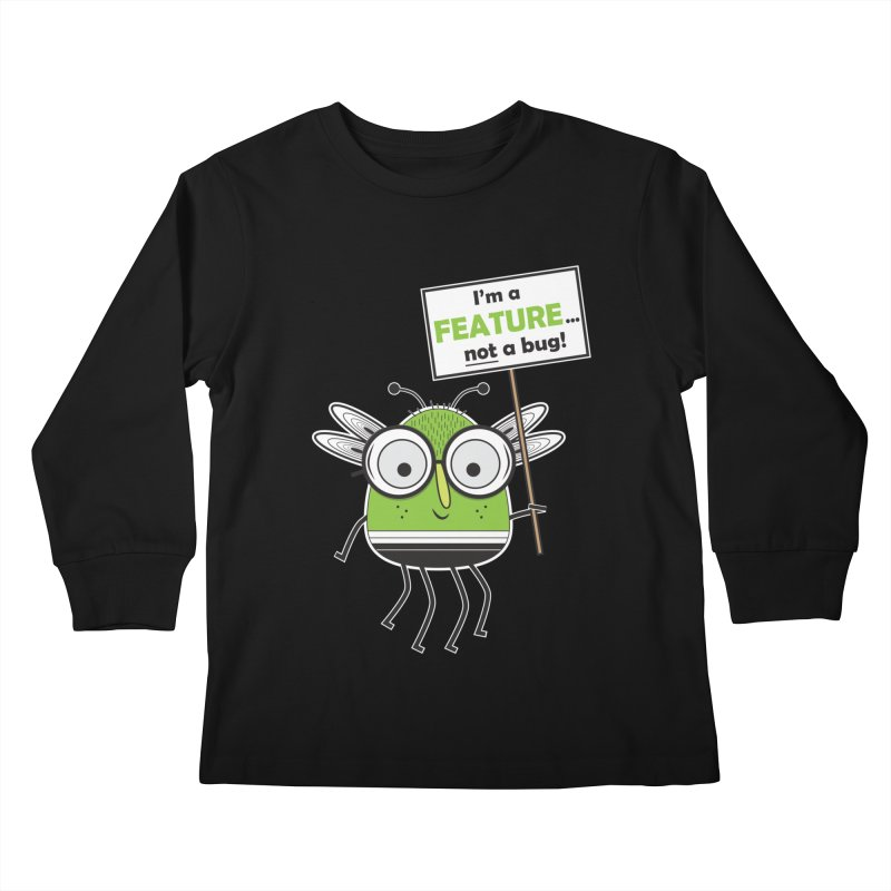 I'm not a bug Kids Longsleeve T-Shirt by Treemanjake