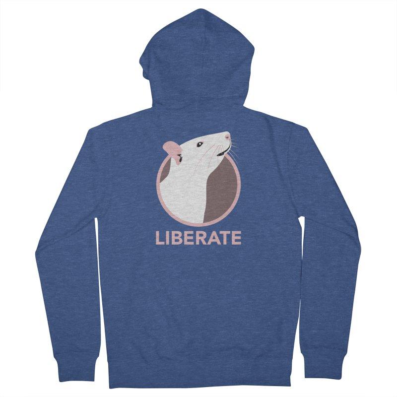 Liberate! (Rat) Women's Zip-Up Hoody by trekvix's Artist Shop