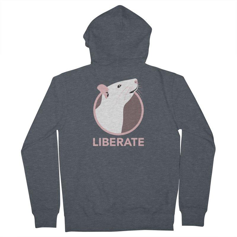 Liberate! (Rat) Men's Zip-Up Hoody by trekvix's Artist Shop