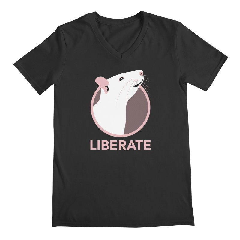 Liberate! (Rat) Men's V-Neck by trekvix's Artist Shop