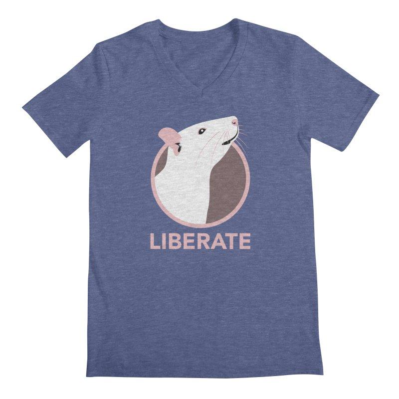 Liberate! (Rat) Men's V-Neck by trekvix's Artist Shop
