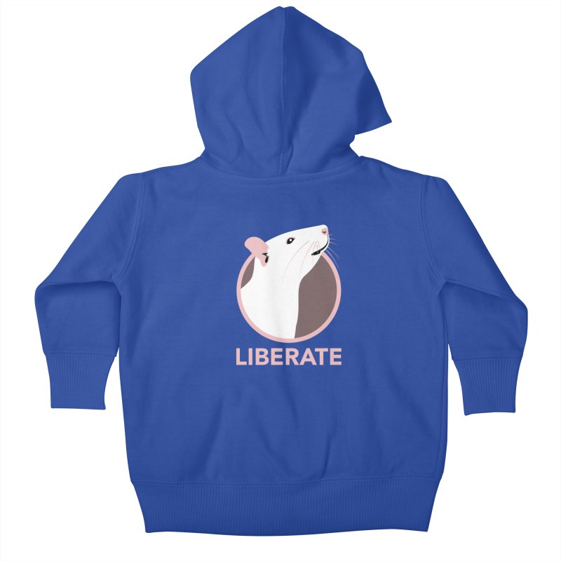 Liberate! (Rat) Kids Baby Zip-Up Hoody by trekvix's Artist Shop