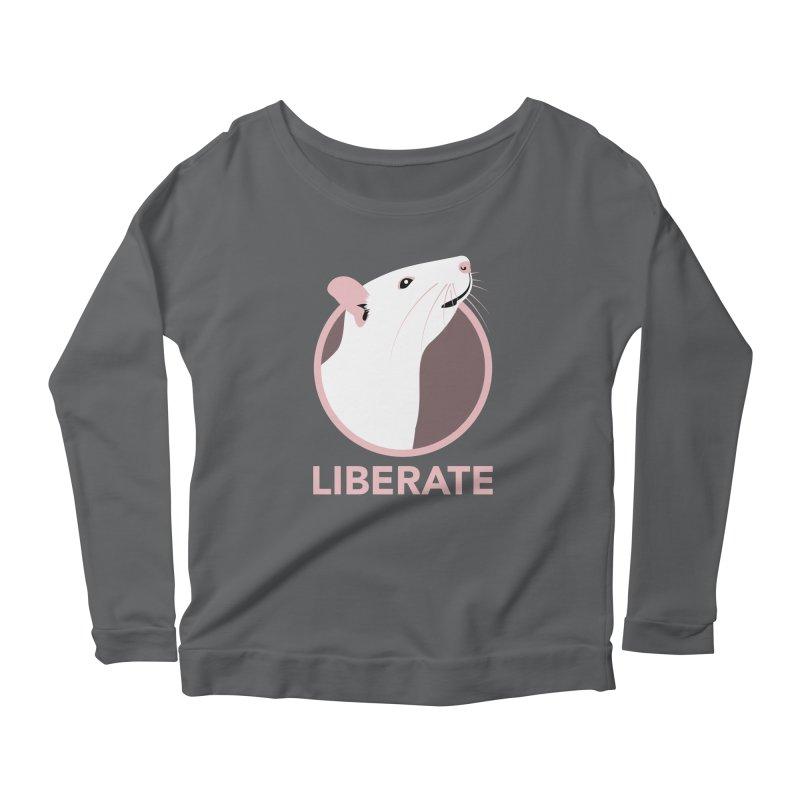 Liberate! (Rat) Women's Longsleeve Scoopneck  by trekvix's Artist Shop