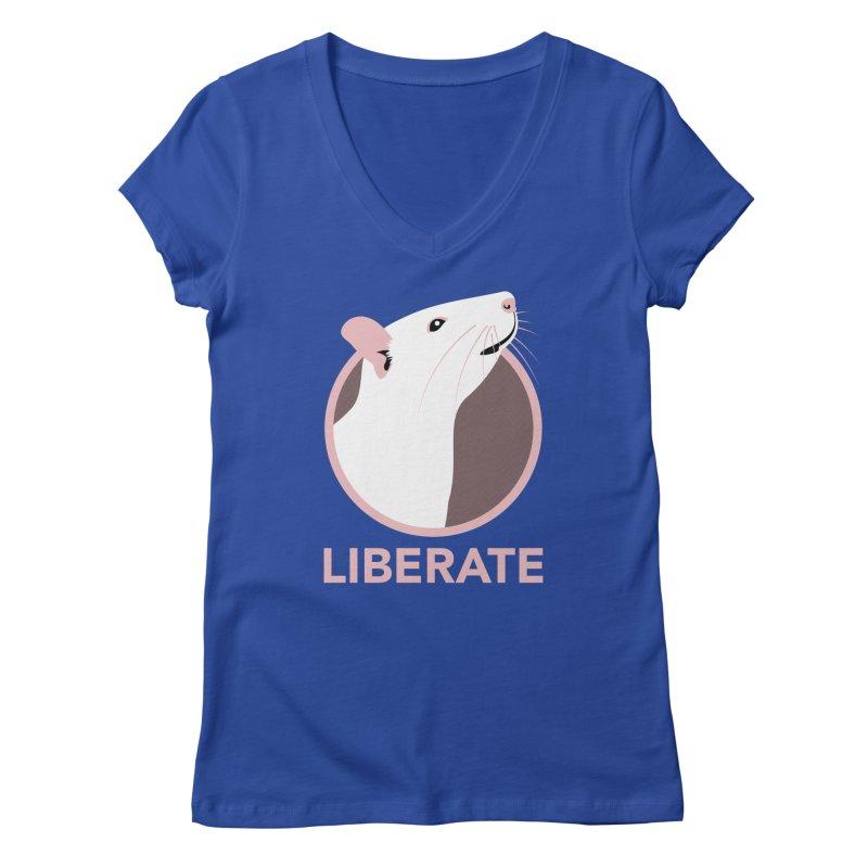 Liberate! (Rat) Women's V-Neck by trekvix's Artist Shop