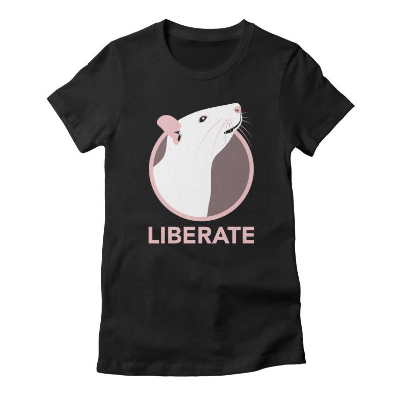 Liberate! (Rat) Women's Fitted T-Shirt by trekvix's Artist Shop