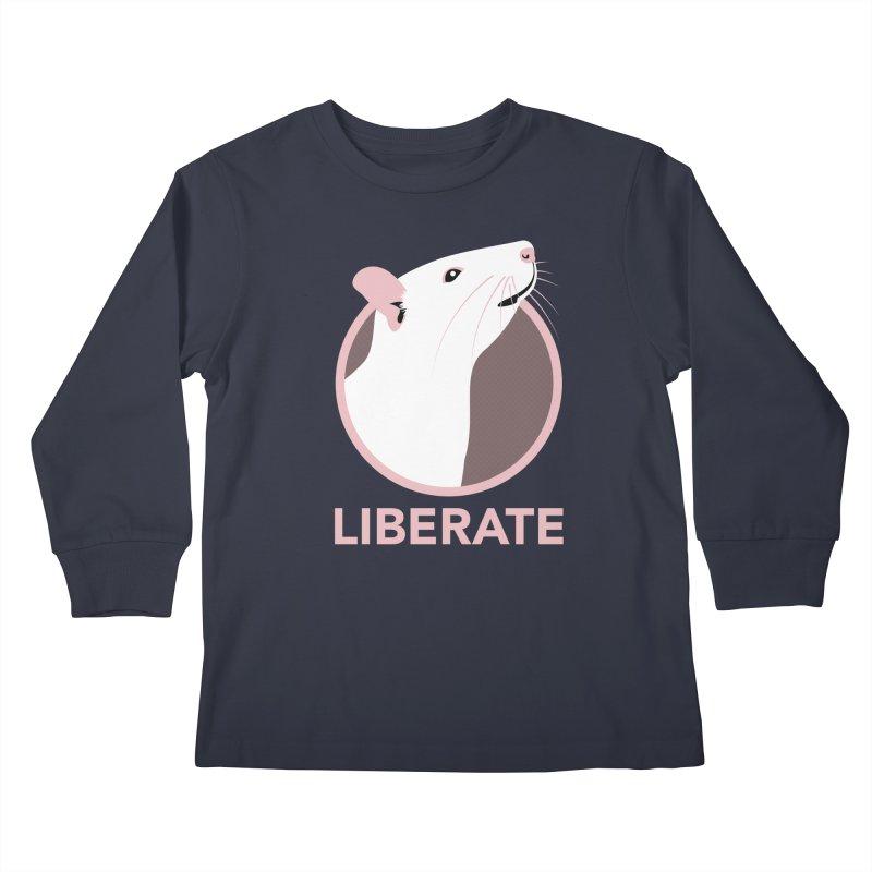 Liberate! (Rat) Kids Longsleeve T-Shirt by trekvix's Artist Shop