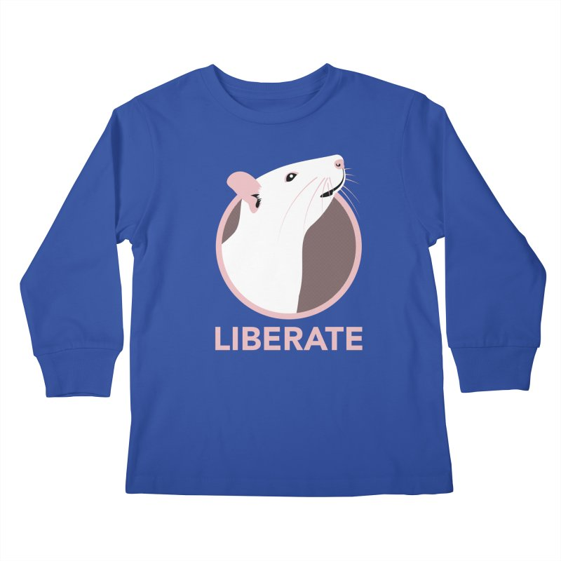 Liberate! (Rat) Kids Longsleeve T-Shirt by trekvix's Artist Shop